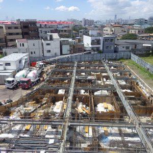 1工区基礎コンクリート打設