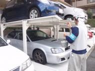立体駐車場塗り替え工事